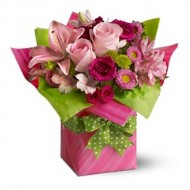 Pretty Pink Present - Same Day Flower Delivery Colorado Springs